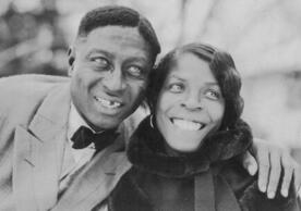 Huddie « Lead Belly » Ledbetter et son épouse, Martha, en 1935
